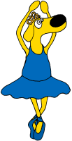 Blaue Ballerina