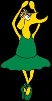 Grüne Ballerina