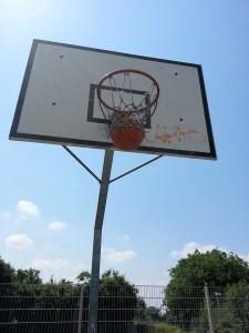 Basketball hängt