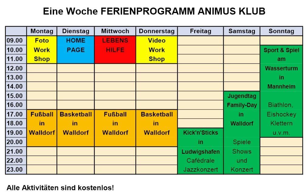 Animus-Klub-Programm