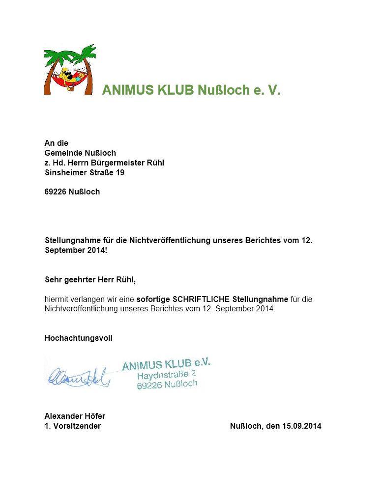 Bürgermeister Rühl 01. - 15. September 2014