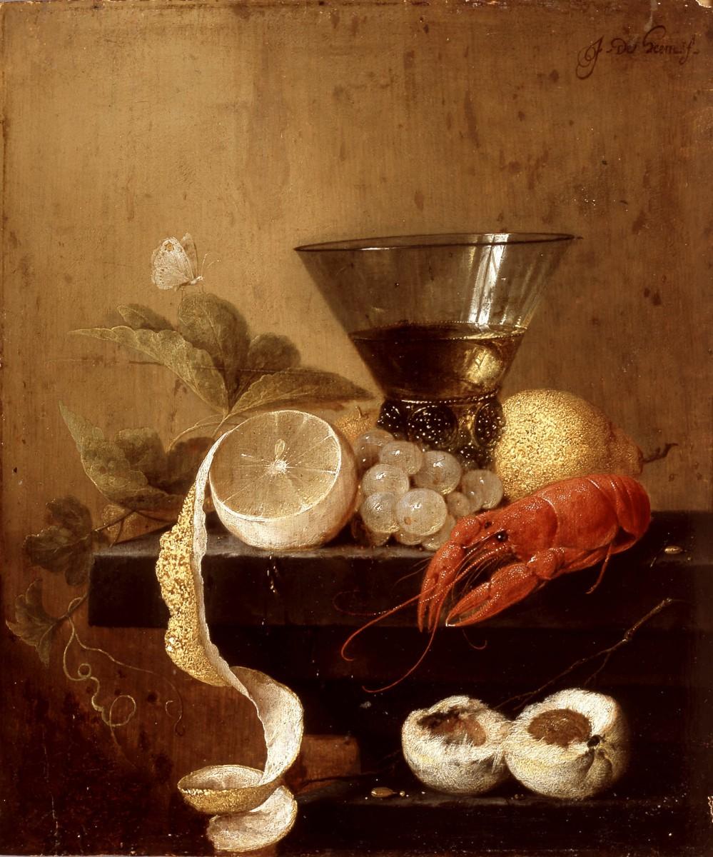 Jan Davidsz de Heem_Stillleben mit Weinkelch Traube und Hummer_um 1635_G251