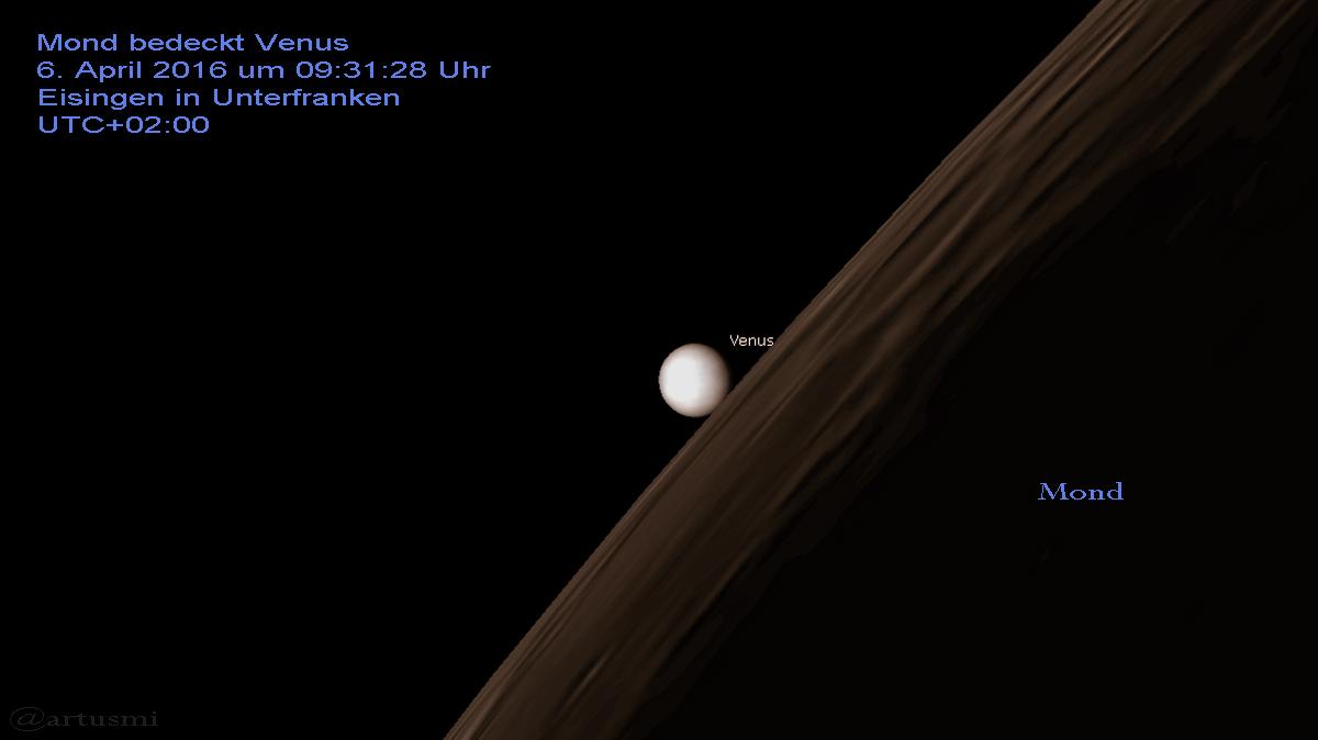 MOnd bedeckt Venus
