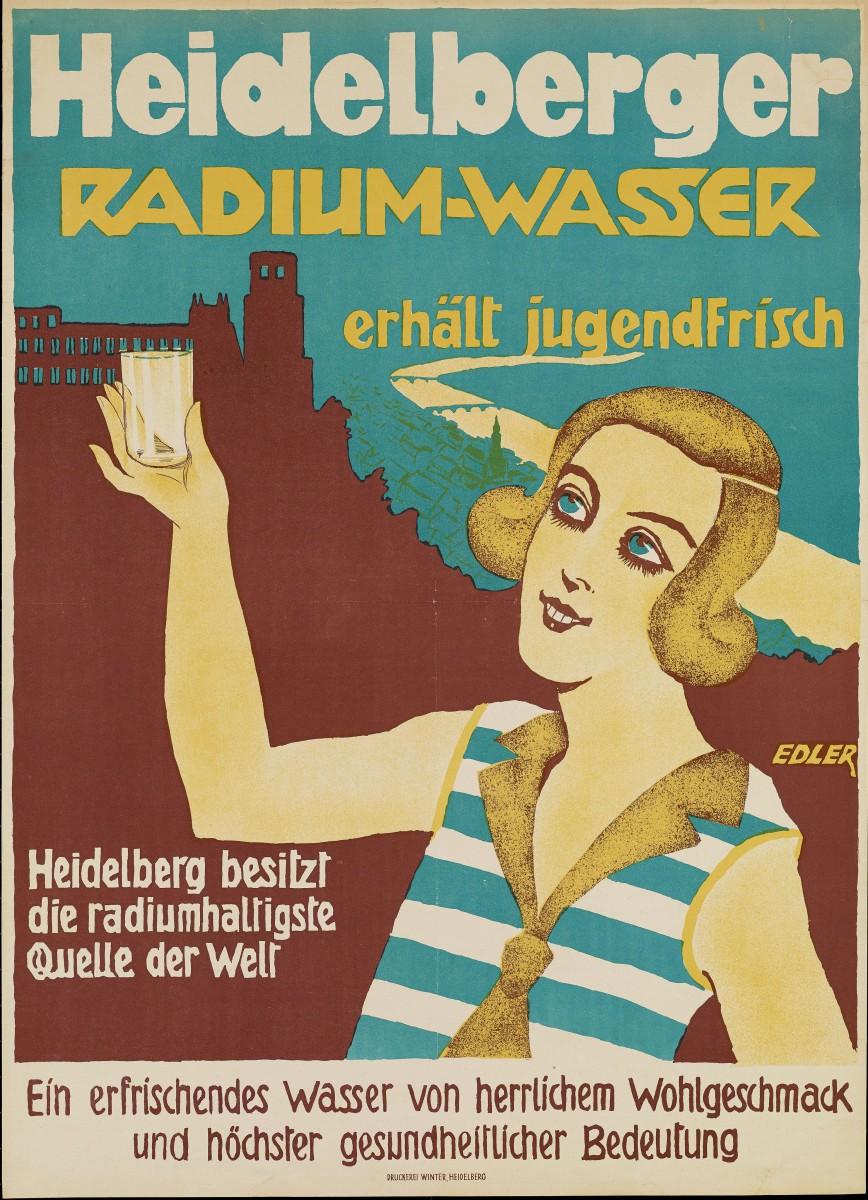 Werbeplakat für HDer Radium Wasser_HD nach 1918_DHM Berlin